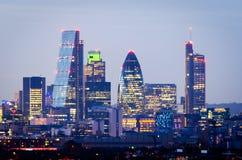 Londres, skyline de Greenwich Foto de Stock Royalty Free