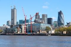 Londres sob a construção Fotos de Stock Royalty Free