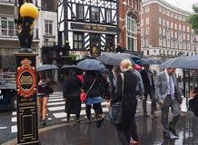 Londres sous la pluie Images stock