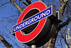 Londres subterrânea Fotografia de Stock Royalty Free