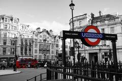 Londres subterráneo Foto de archivo libre de regalías