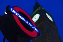 Londres subterráneo Fotos de archivo libres de regalías