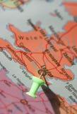 Londres sur la carte Images stock