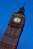 Londres. Torre de pulso de disparo de Ben grande. Imagens de Stock