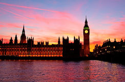 Londres. Torre de reloj de Ben grande. Imagen de archivo