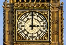 Londres - tour d'horloge du parlement Image stock
