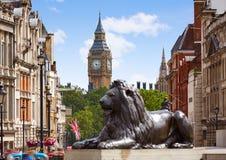 Londres Trafalgar Square no Reino Unido imagens de stock royalty free