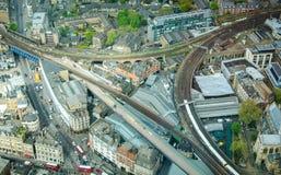 Londres treina a vista Fotos de Stock