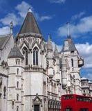 Londres, Tribunales de Justicia reales Imagen de archivo libre de regalías