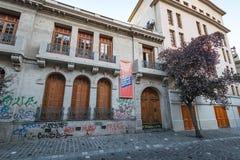 Londres 38, vroeger centrum van opsluiting en marteling tijdens Chileense ditactorship - Santiago, Chili stock fotografie