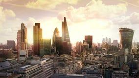 Londres Vue sur le secteur moderne d'affaires clips vidéos