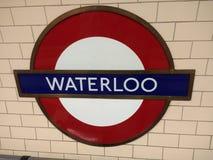 Londres Waterloo subterrâneo Imagens de Stock