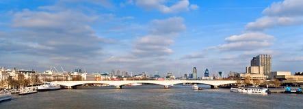 Londres y Thames Fotografía de archivo libre de regalías