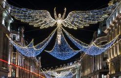 Londyńscy bożonarodzeniowe światła Zdjęcia Royalty Free