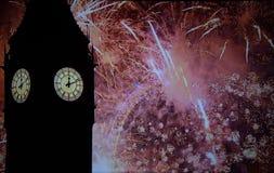 Londyńscy nowy rok świętowania Zdjęcia Royalty Free
