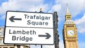 Londyńscy punkty zwrotni zdjęcie royalty free