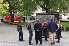 Londyńscy turyści Zdjęcia Royalty Free