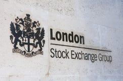 Londyńska giełda papierów wartościowych Obrazy Royalty Free