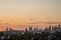 Londyńska linia horyzontu widzieć od Pierwiosnkowego wzgórza Obrazy Stock