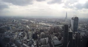 Londyńska miasto linia horyzontu Thames czerep Fotografia Stock