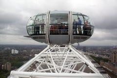 Londyńska oko kabina Zdjęcia Stock