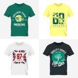 Londyński koszulki odzieży egzamin próbny up Obrazy Royalty Free