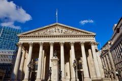Londyński Królewski wekslowego budynku pieniężny okręg Obrazy Royalty Free