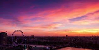 Londyński linia horyzontu - widok z lotu ptaka Londyński linia horyzontu obrazy royalty free