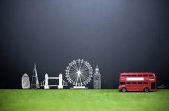 Londyński linii horyzontu turystyki tło Obrazy Stock