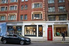 Londyński luksusowy zakupy zdjęcia stock