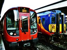Londyński metro i sieć poręcz Obrazy Royalty Free
