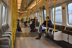 Londyński metro pociąg zdjęcia stock