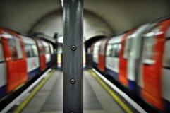 Londyński metro Trenuje Clapham północ Fotografia Royalty Free