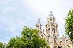Londyński miasto, Anglia/: Historii naturalnej muzeum południowa strona fotografia stock