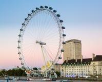 Londyński oczu ferris koło na banku Thames Zdjęcia Royalty Free