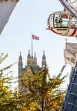 Londyński oczu ferris koło na banku Thames Zdjęcie Royalty Free