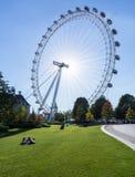 Londyński oczu ferris koło na banku Thames Obraz Royalty Free