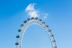 Londyński oczu ferris koło na banku Thames Obraz Stock