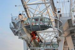 Londyński oko, milenium toczy wewnątrz Londyn w ranku Zdjęcie Royalty Free