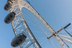 Londyński oko, milenium toczy wewnątrz Londyn w ranku Obraz Royalty Free