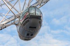 Londyński oko, milenium toczy wewnątrz Londyn w ranku Fotografia Stock