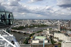 Londyński oko widok fotografia royalty free
