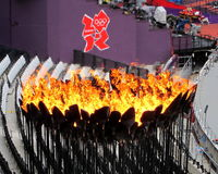 Londyński olimpiad 2012 płomienia logo Fotografia Stock
