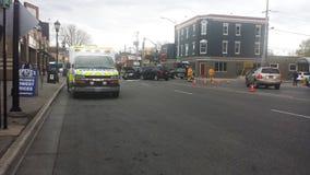 Londyński Ontario Kanada, Maj, - 03, 2016: Strażacy i medyczny Obraz Royalty Free