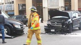 Londyński Ontario Kanada, Maj, - 03, 2016: Strażacy odpowiadają a Obrazy Stock
