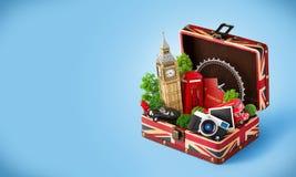 Londyński podróżny pojęcie royalty ilustracja