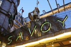 Londyński Savoy hotel Zdjęcie Royalty Free