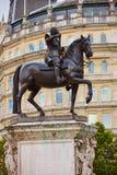 Londyński Trafalgar kwadrata królewiątko Charles Ja Obrazy Royalty Free