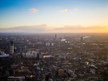 Londyński zachodniego kona słońca set Fotografia Stock
