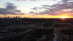 Londyński Zjednoczone Królestwo widok słońca położenie Fotografia Stock